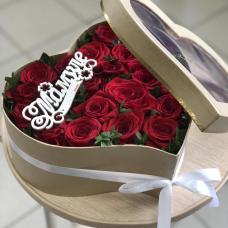 """Роза в коробке """"Цветочный рай"""""""