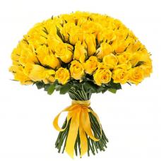 Жёлтая роза 40 см недорого