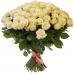 Белые розы 40 см.