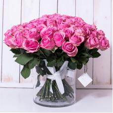 Розовые розы 40 см. недорого с доставкой