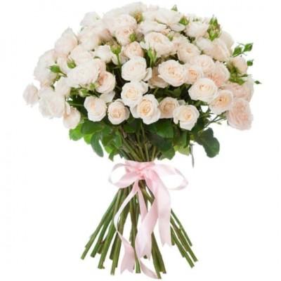 Розы кустовые белые
