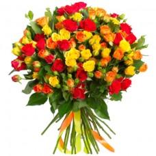 Розы кустовые микс